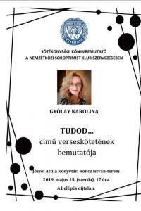 Gyólay Karolina : Tudod...(2019.05.15.)